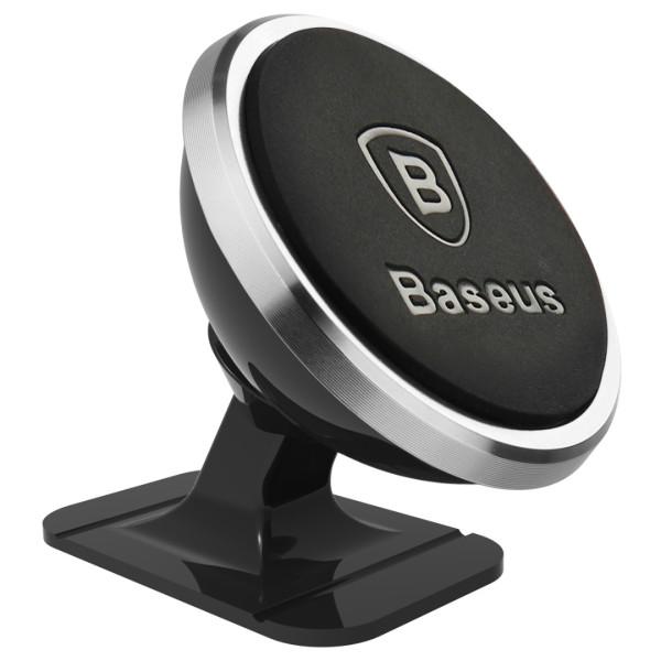 Магнитна стойка/поставка за мобилен телефон за табло в кола, Baseus, Сива