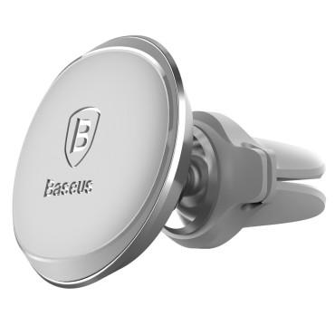 Луксозна магнитна стойка за телефон за въздуховод в кола, Baseus Magnetic Stand, Сива