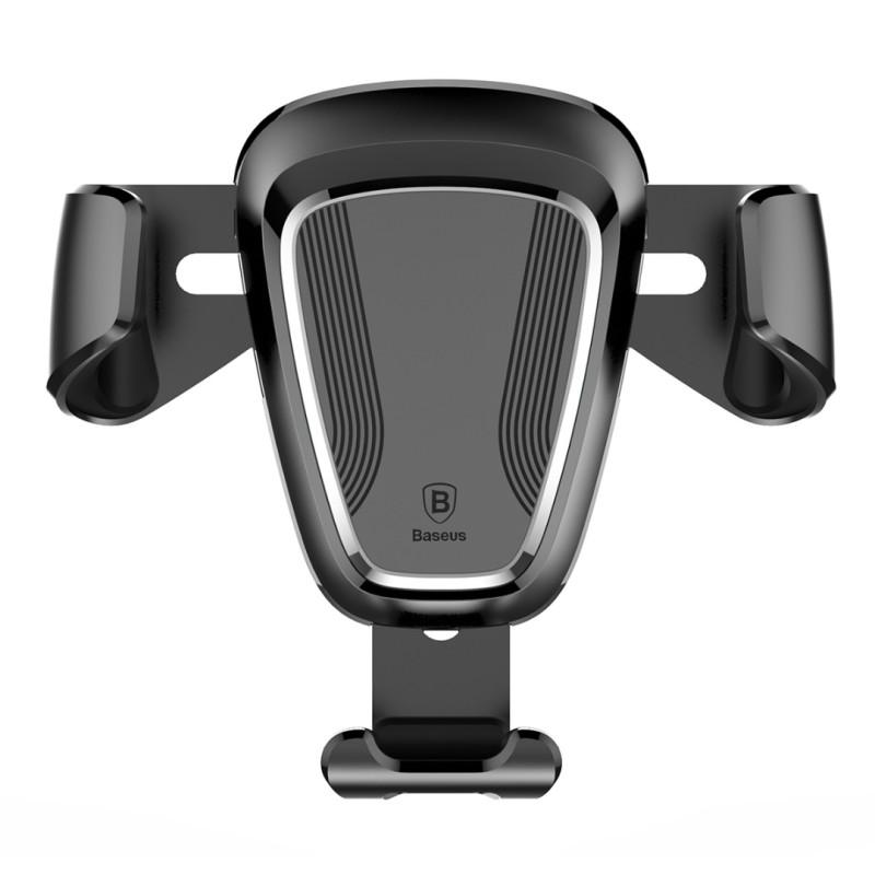 Стойка/поставка за телефон за въздуховод в кола Baseus Car Gravity, Универсална, Черна
