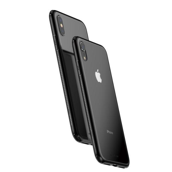 Стъклен кейс/калъф Baseus за iPhone XS Max, Черен, Baseus