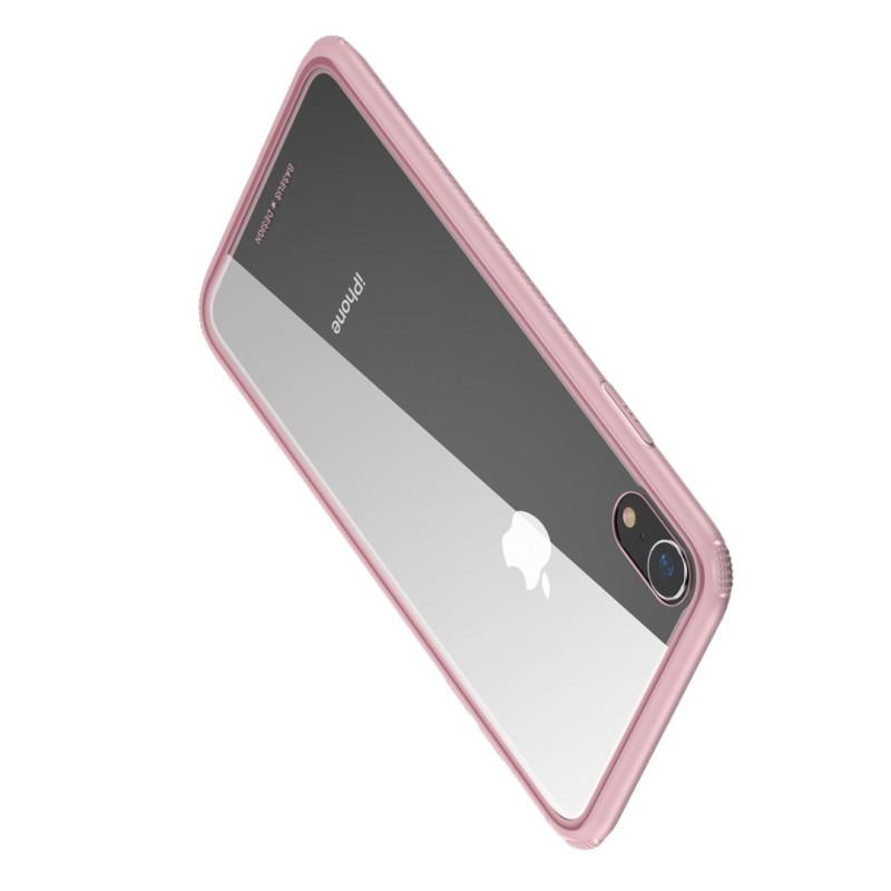 Стъклен кейс/калъф Baseus за iPhone XS, Розов, Baseus