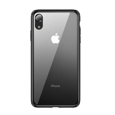 Стъклен кейс/калъф Baseus за iPhone XR, Черен, Baseus