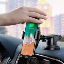 Безжично зарядно и стойка за телефон с вендуза Baseus, 10W, Qi, Универсално, Бързо зареждане