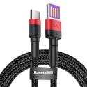 Зареждащ кабел/зарядно Baseus Type-C, Супер бързо зареждане, 1 м., 40W, 5.0A, Черен/Червен