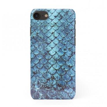 3D твърд кейс/калъф в дизайн Blue Mermaid за iPhone 7, 3D гел покритие, Case