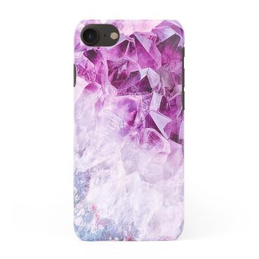 3D твърд кейс/калъф в дизайн Amethyst Diamonds за iPhone 7, 3D гел покритие, Case