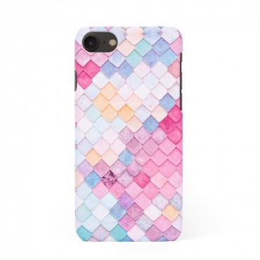 Твърд кейс/калъф в дизайн Colorful Scales за iPhone 8, Case, Уникален Дизайн