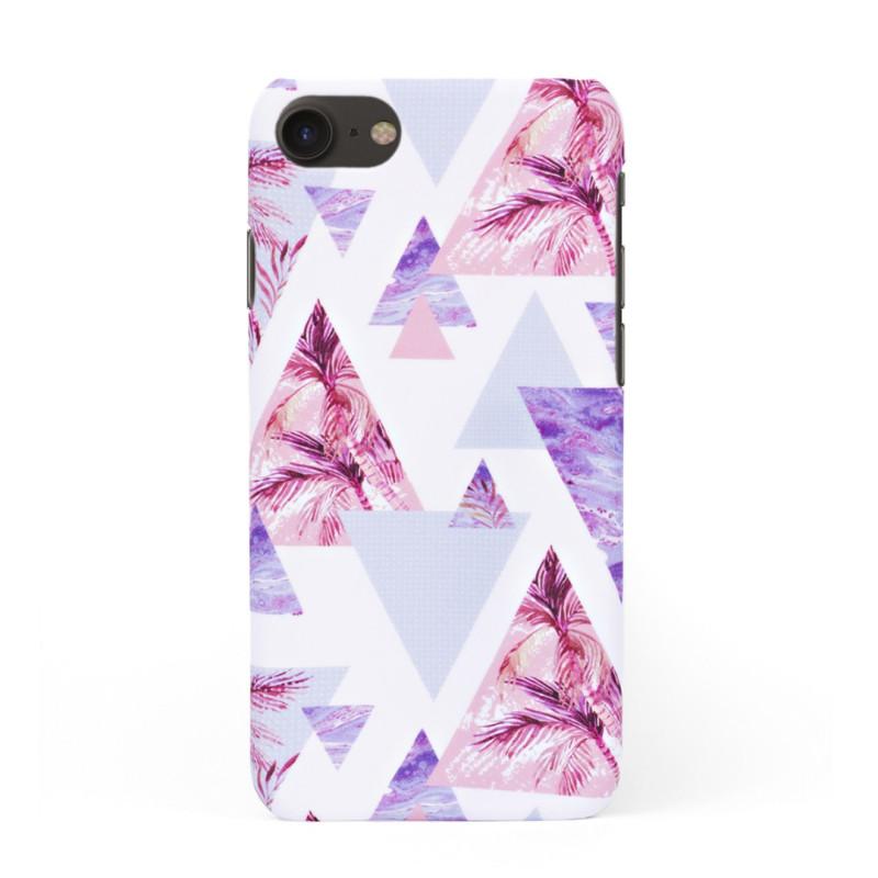 Луксозен кейс/калъф в дизайн Palm Paradise за iPhone 8, Tвърд, Case