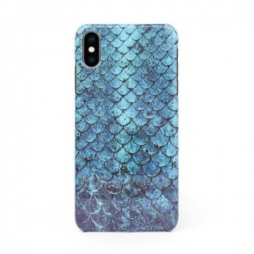 3D твърд кейс/калъф в дизайн Blue Mermaid за iPhone XS, 3D гел покритие, Case