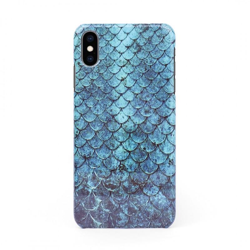 3D твърд кейс/калъф в дизайн Blue Mermaid за iPhone X, 3D гел покритие, Case
