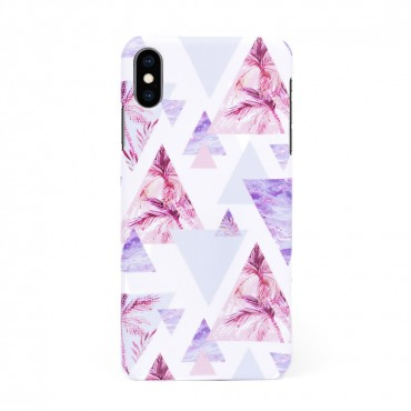 Луксозен кейс/калъф в дизайн Palm Paradise за iPhone XS, Tвърд, Case