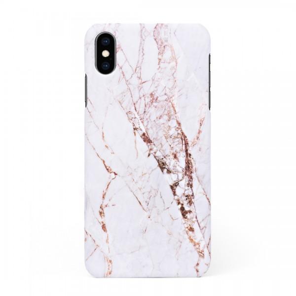 Луксозен кейс/калъф в дизайн White Marble with Gold Threads за iPhone XS, Tвърд, Case