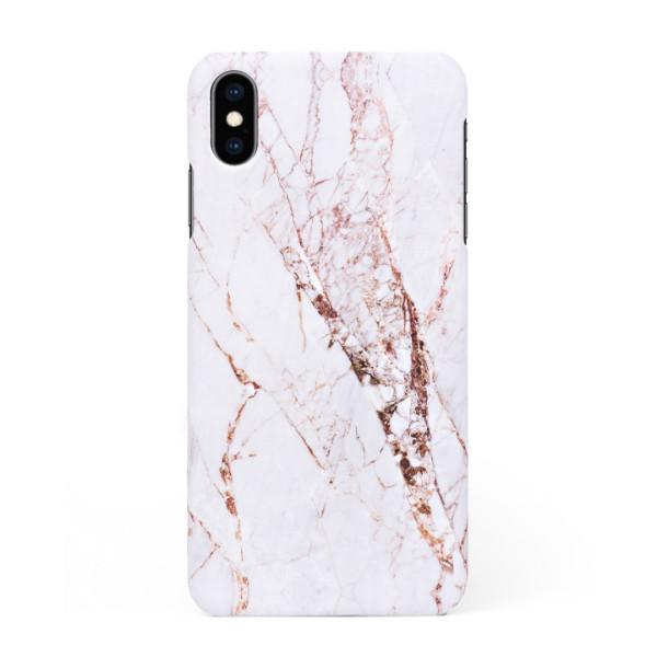 Луксозен кейс/калъф в дизайн White Marble with Gold Threads за iPhone XS Max, Tвърд, Case