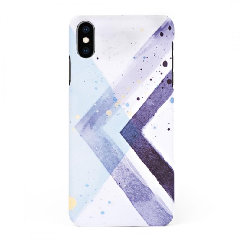 Твърд кейс/калъф в дизайн Colorful Triangles за iPhone XS, Case, Уникален Дизайн