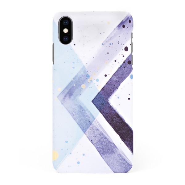 Твърд кейс/калъф в дизайн Colorful Triangles за iPhone X, Case, Уникален Дизайн