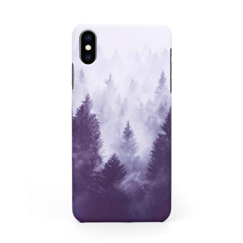 Твърд кейс/калъф в дизайн Foggy Forest за iPhone X, Case, Уникален Дизайн