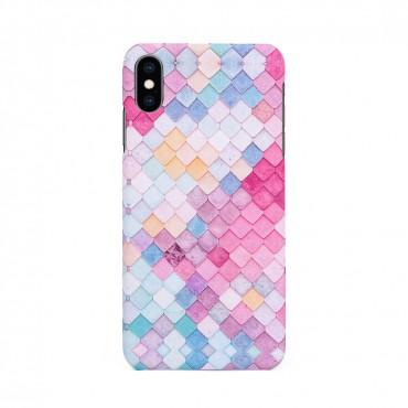 Твърд кейс/калъф в дизайн Colorful Scales за iPhone XS Max, Case, Уникален Дизайн