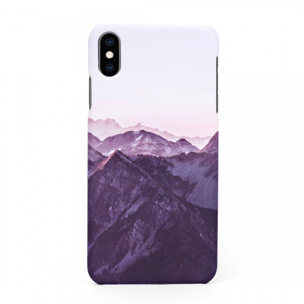 Tвърд кейс/калъф в дизайн Mountan Range за iPhone XS, Case, Уникален Дизайн
