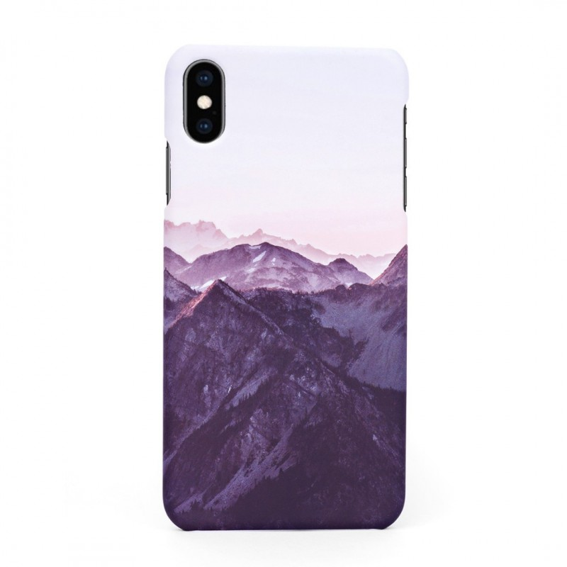 Tвърд кейс/калъф в дизайн Mountan Range за iPhone XS, Case, Уникален Дизайн