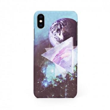 Луксозен твърд кейс/калъф в дизайн Galaxy за iPhone XS, Case