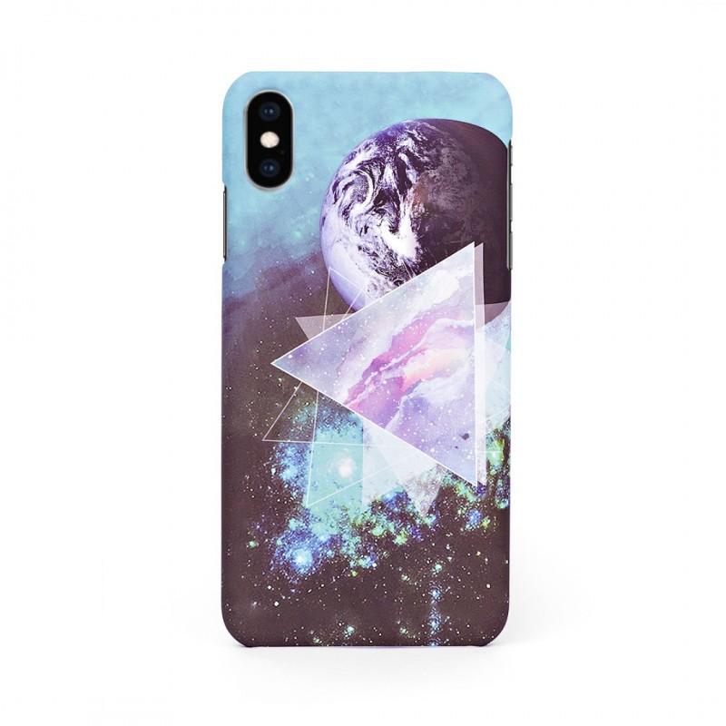 Луксозен твърд кейс/калъф в дизайн Galaxy за iPhone X, Case