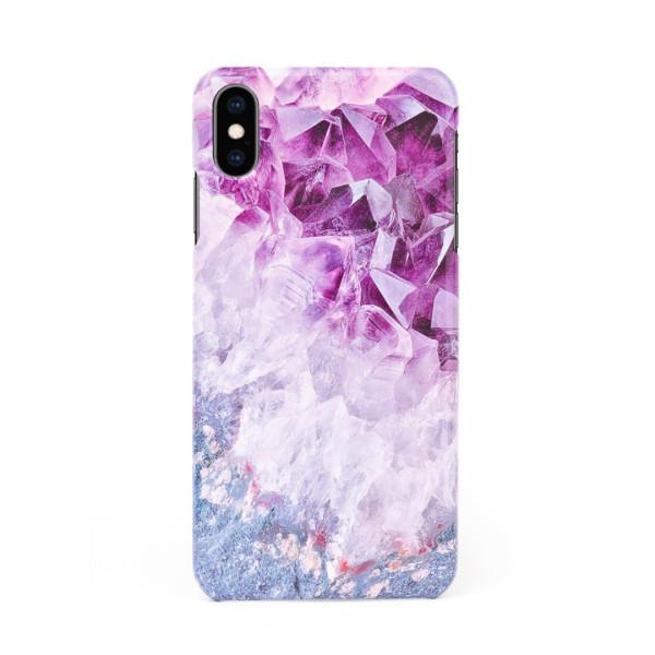 3D твърд кейс/калъф в дизайн Amethyst Diamonds за iPhone X, 3D гел покритие, Case