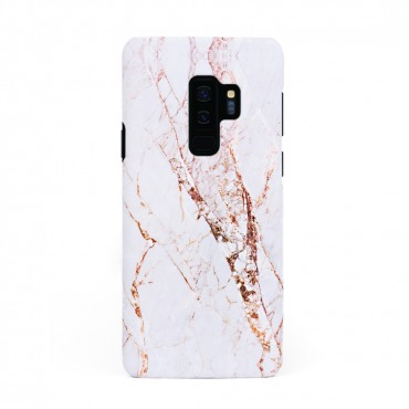 Луксозен кейс/калъф в дизайн White Marble with Gold Threads за Samsung Galaxy S9 Plus, Tвърд, Case