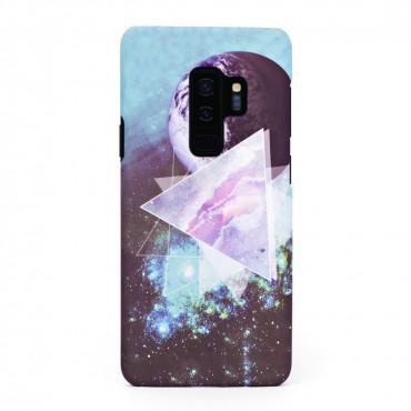 Луксозен твърд кейс/калъф в дизайн Galaxy за Samsung Galaxy S9 Plus, Case