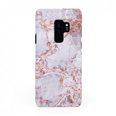 Луксозен кейс/калъф в дизайн Silver Marble with Gold Threads за Samsung Galaxy S9 Plus, Tвърд, Case