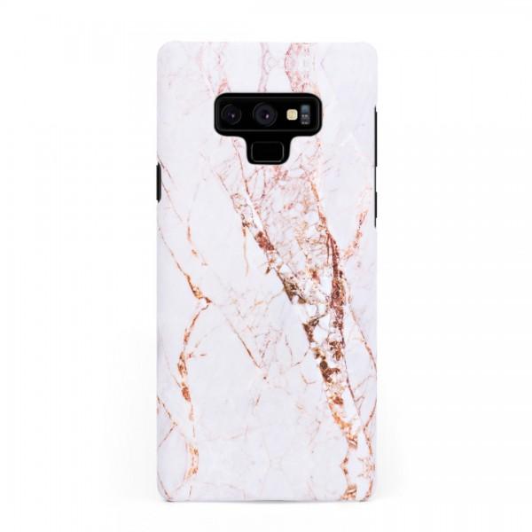 Луксозен кейс/калъф в дизайн White Marble with Gold Threads за Samsung Galaxy Note 9, Tвърд, Case