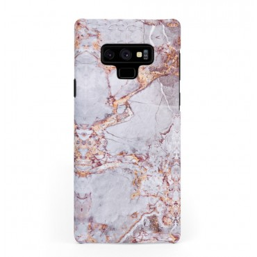 Луксозен кейс/калъф в дизайн Silver Marble with Gold Threads за Samsung Galaxy Note 9, Tвърд, Case
