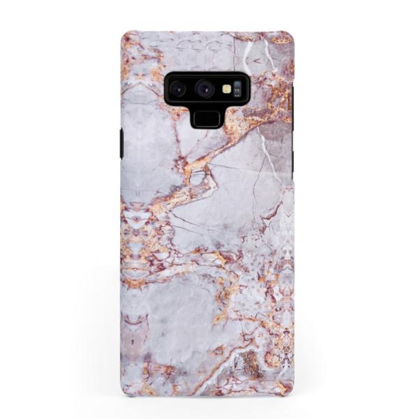 Луксозен кейс/калъф в дизайн Silver Marble with Gold Threads за Samsung Galaxy Note 9, Tвърд, Case