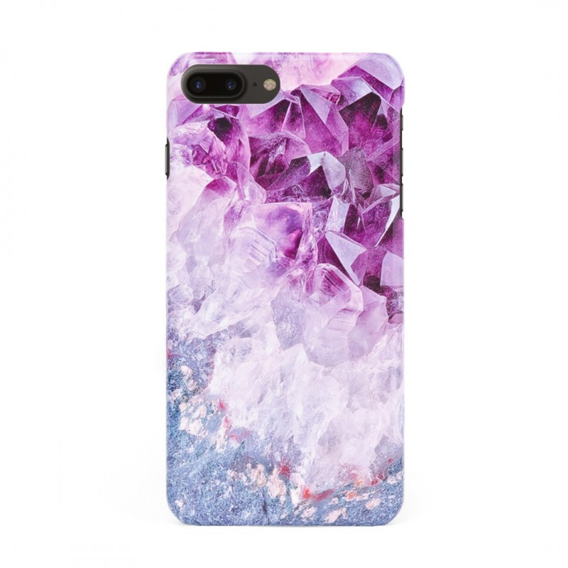 3D твърд кейс/калъф в дизайн Amethyst Diamonds за iPhone 8 Plus, 3D гел покритие, Case