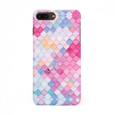 Твърд кейс/калъф в дизайн Colorful Scales за iPhone 8 Plus, Case, Уникален Дизайн