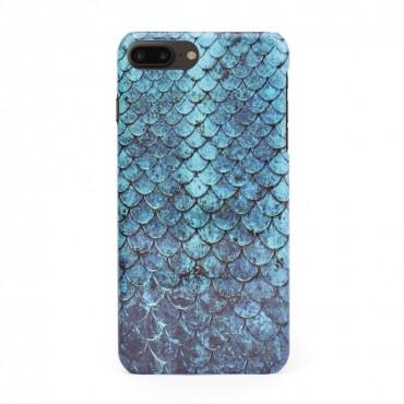3D твърд кейс/калъф в дизайн Blue Mermaid за iPhone 8 Plus, 3D гел покритие, Case