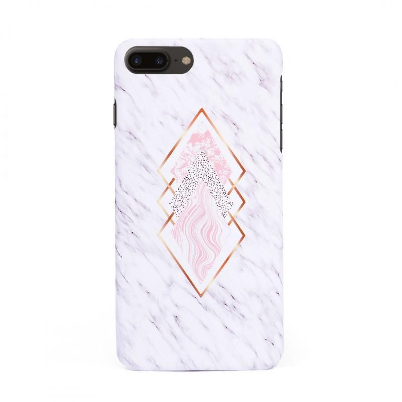 Твърд кейс/калъф в дизайн Golden Rhomboids за iPhone 8 Plus, Case, Уникален Дизайн
