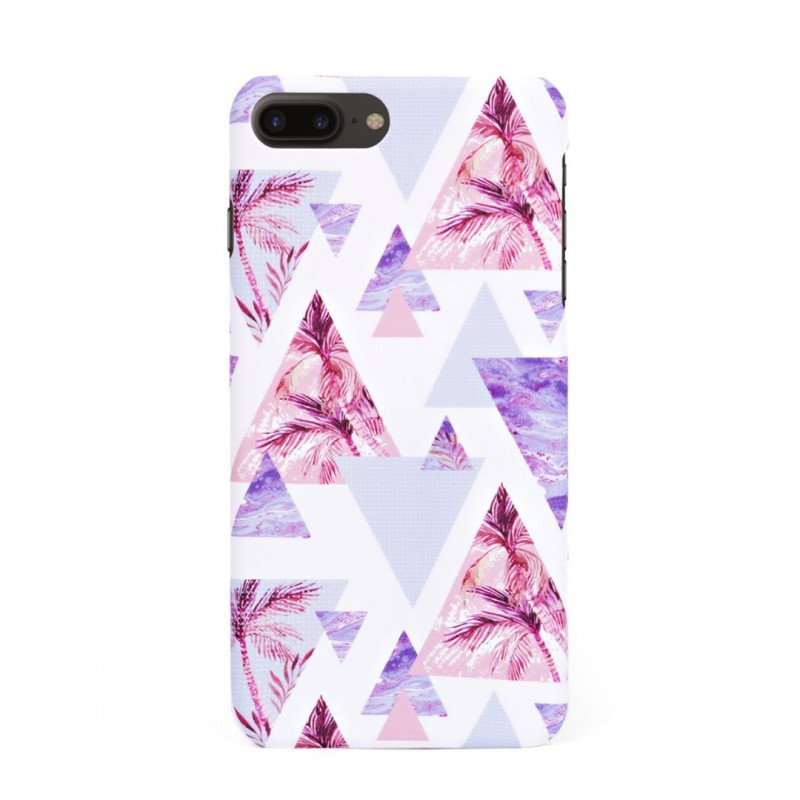 Луксозен кейс/калъф в дизайн Palm Paradise за iPhone 8 Plus, Tвърд, Case