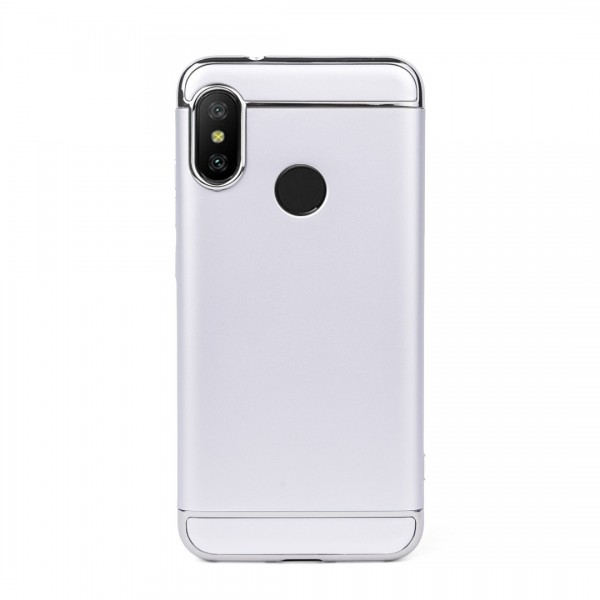 Луксозен кейс/калъф от 3 части за Xiaomi Mi A2 Lite, Case, Твърд, Сребрист