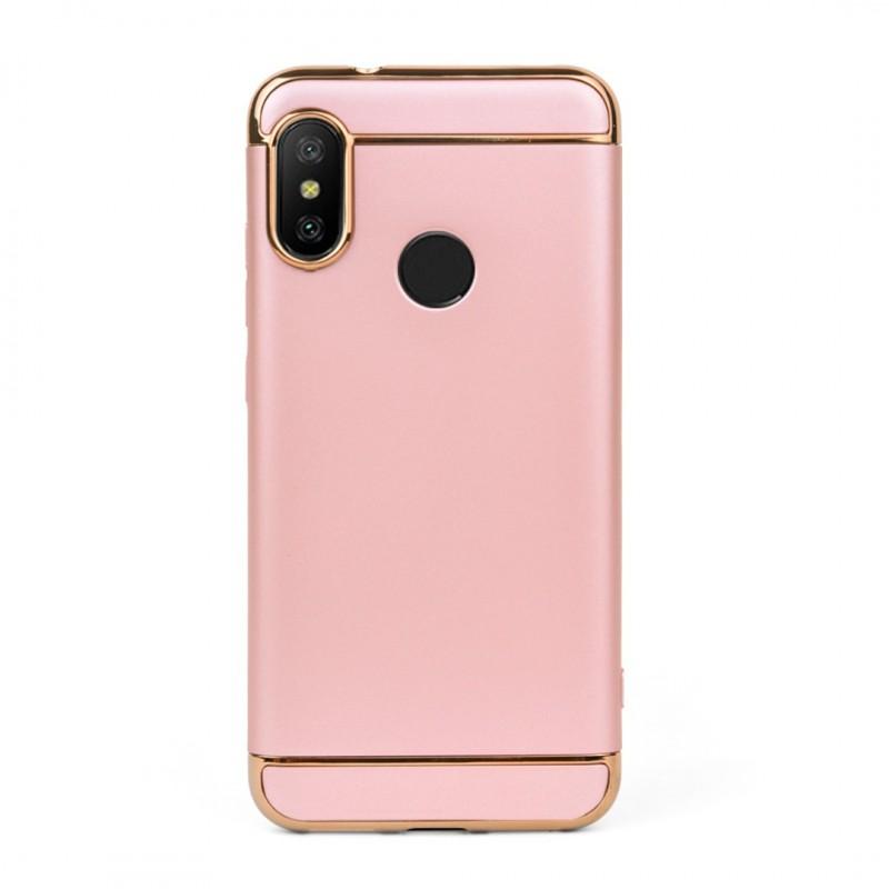 Луксозен кейс/калъф от 3 части за Xiaomi Mi A2 Lite, Case, Твърд, Розово злато