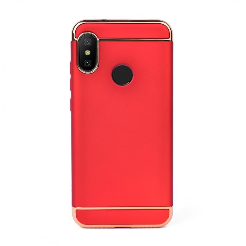 Луксозен кейс/калъф от 3 части за Xiaomi Mi A2 Lite, Case, Твърд, Червен