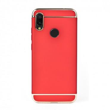 Луксозен кейс/калъф от 3 части за Xiaomi Redmi Note 7, Case, Твърд, Червен