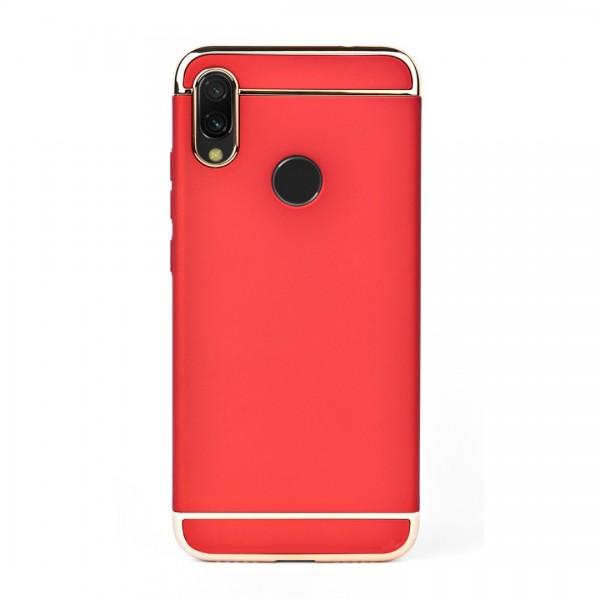 Луксозен кейс/калъф от 3 части за Xiaomi Redmi Note 7 Pro, Case, Твърд, Червен