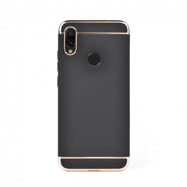 Луксозен кейс/калъф от 3 части за Xiaomi Redmi Note 7, Case, Твърд, Черен