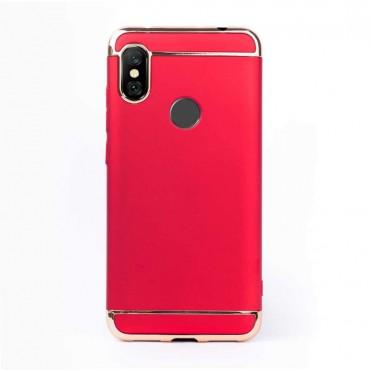 Луксозен кейс/калъф от 3 части за Xiaomi Redmi Note 6, Case, Твърд, Червен