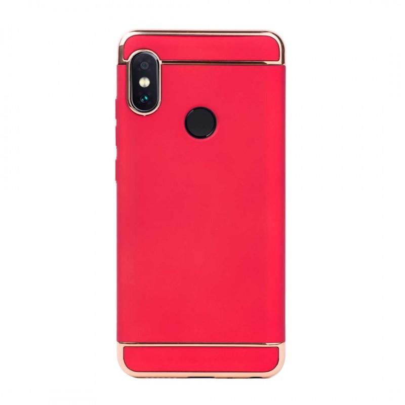 Луксозен кейс/калъф от 3 части за Xiaomi Redmi Note 5, Case, Твърд, Червен
