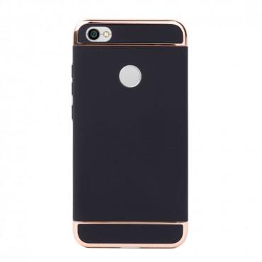 Луксозен кейс/калъф от 3 части за Xiaomi Redmi Note 5A, Case, Твърд, Черен