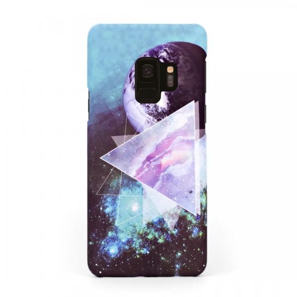 Луксозен твърд кейс/калъф в дизайн Galaxy за Samsung Galaxy S9, Case