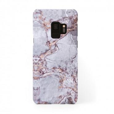 Луксозен кейс/калъф в дизайн Silver Marble with Gold Threads за Samsung Galaxy S9, Tвърд, Case