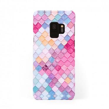 Твърд кейс/калъф в дизайн Colorful Scales за Samsung Galaxy S9, Case, Уникален Дизайн