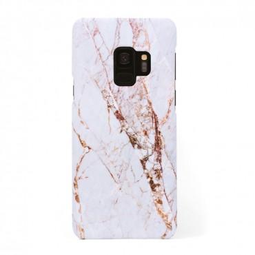 Луксозен кейс/калъф в дизайн White Marble with Gold Threads за Samsung Galaxy Galaxy S9, Tвърд, Case
